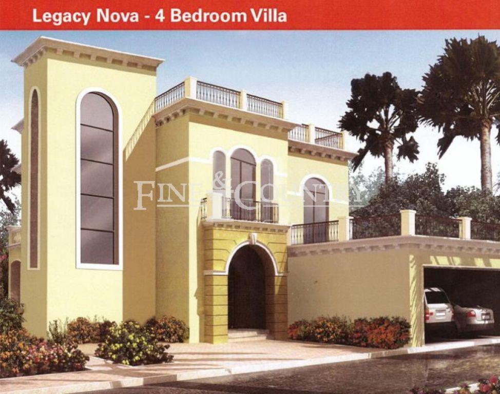 Jumeirah park legacy nova villa off plan 4 bedroom for Floor plans jumeirah park